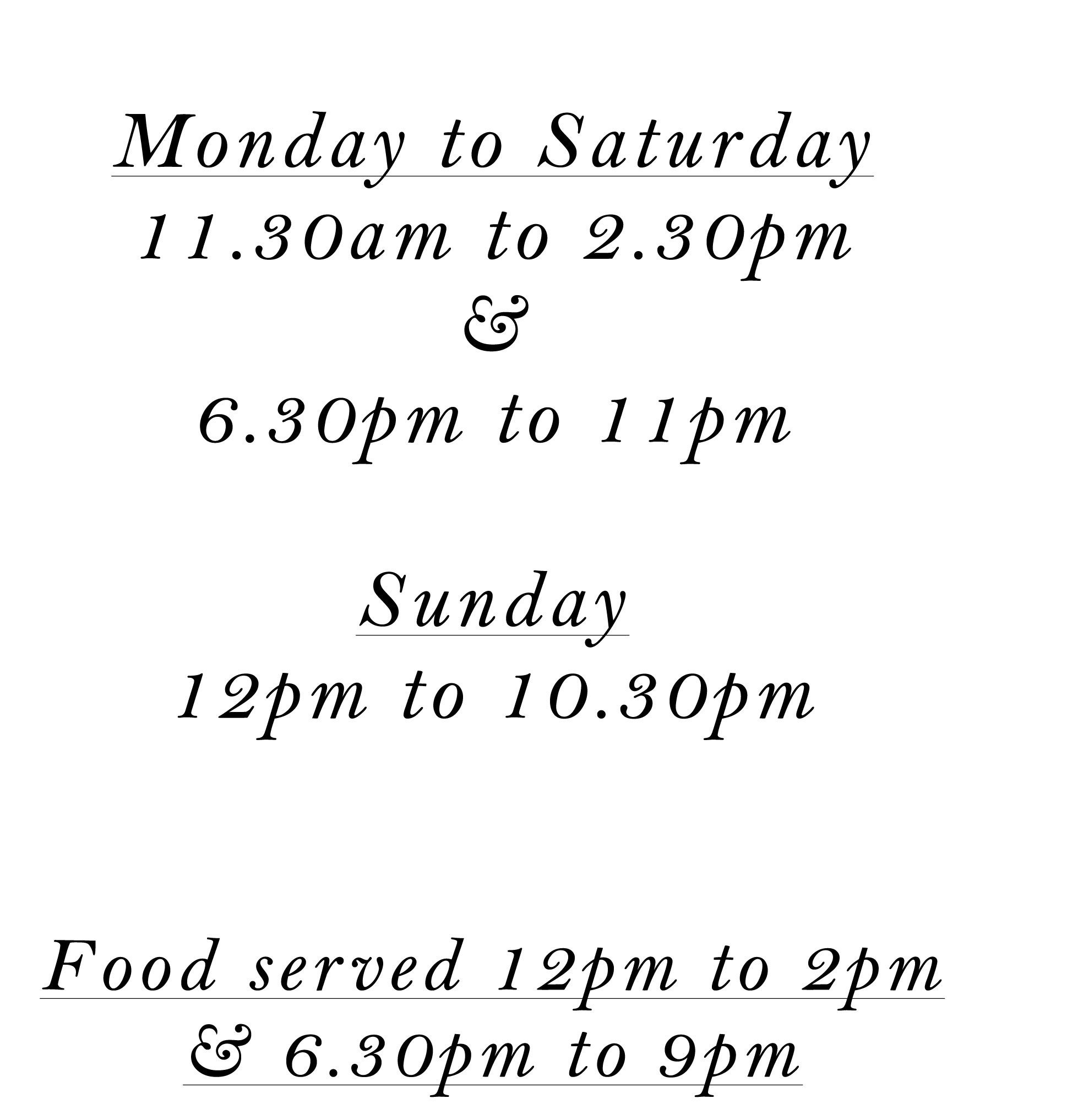 opening times including christmas hours