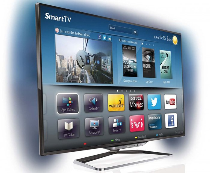 vista laterale SMART TV