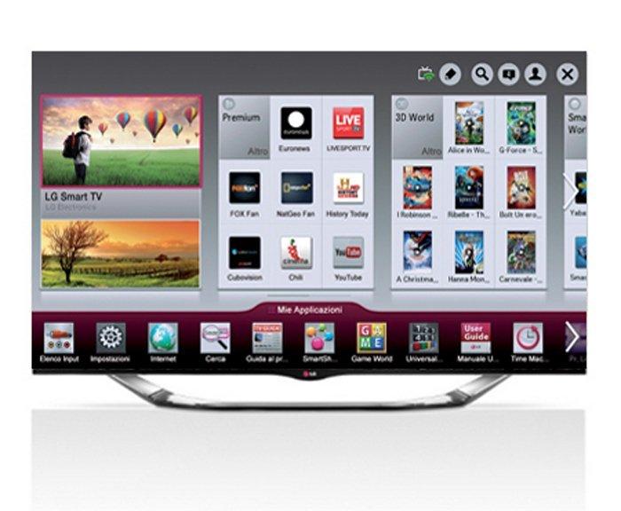 applicazioni aperte su smart tv