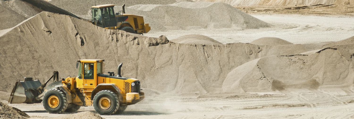 Earthmoving machinery from an excavation company in Nevada, OH