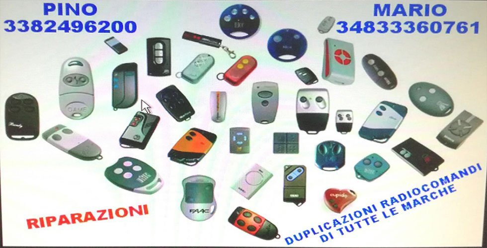duplicazione telecomandi