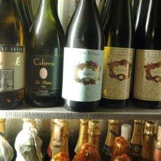 Bottiglie di vino bianco