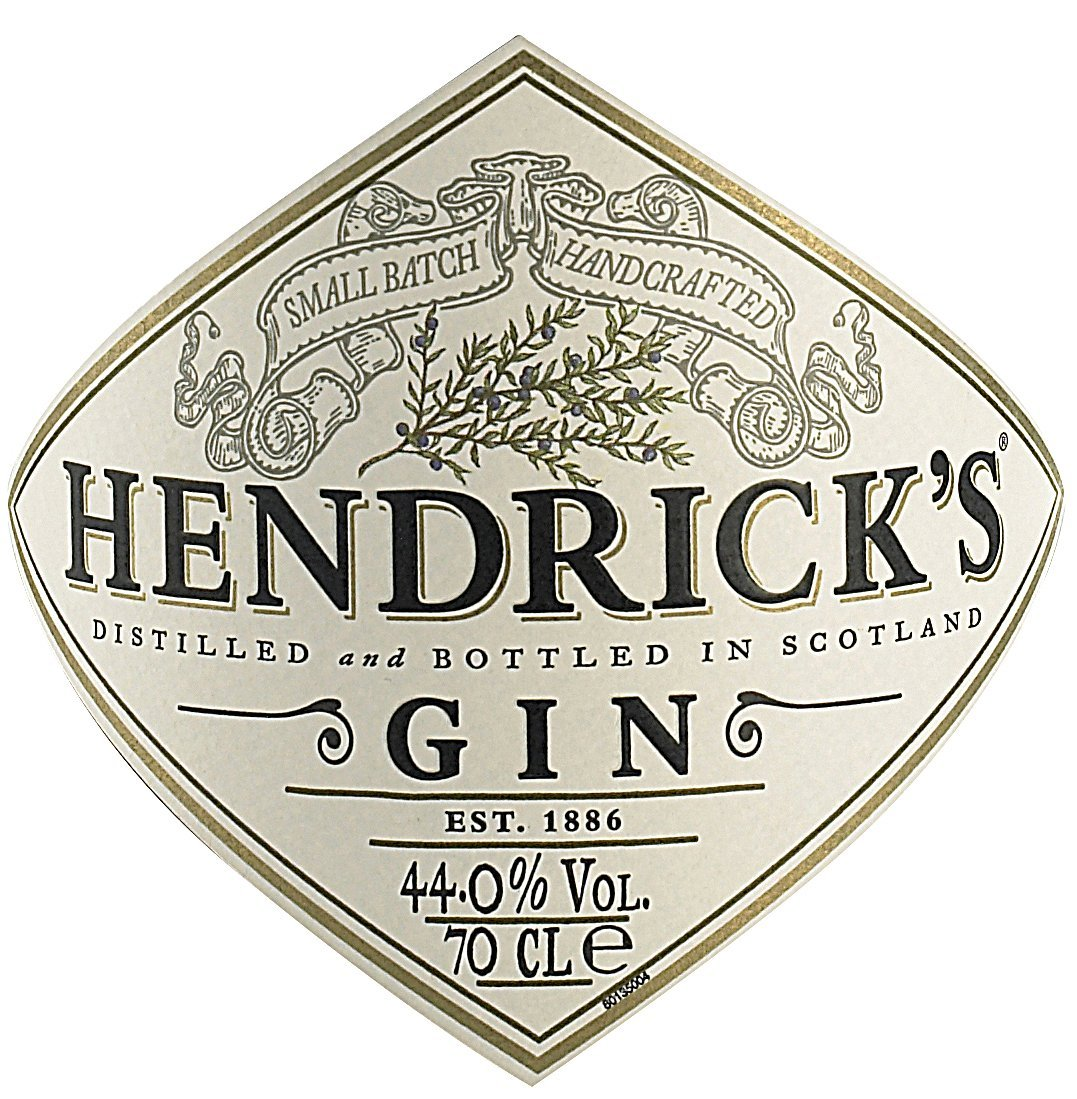 Etichetta bottiglia Hendricks