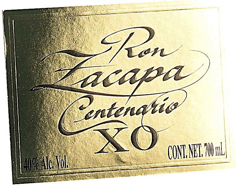 Etichetta bottigli Ron Zacapa