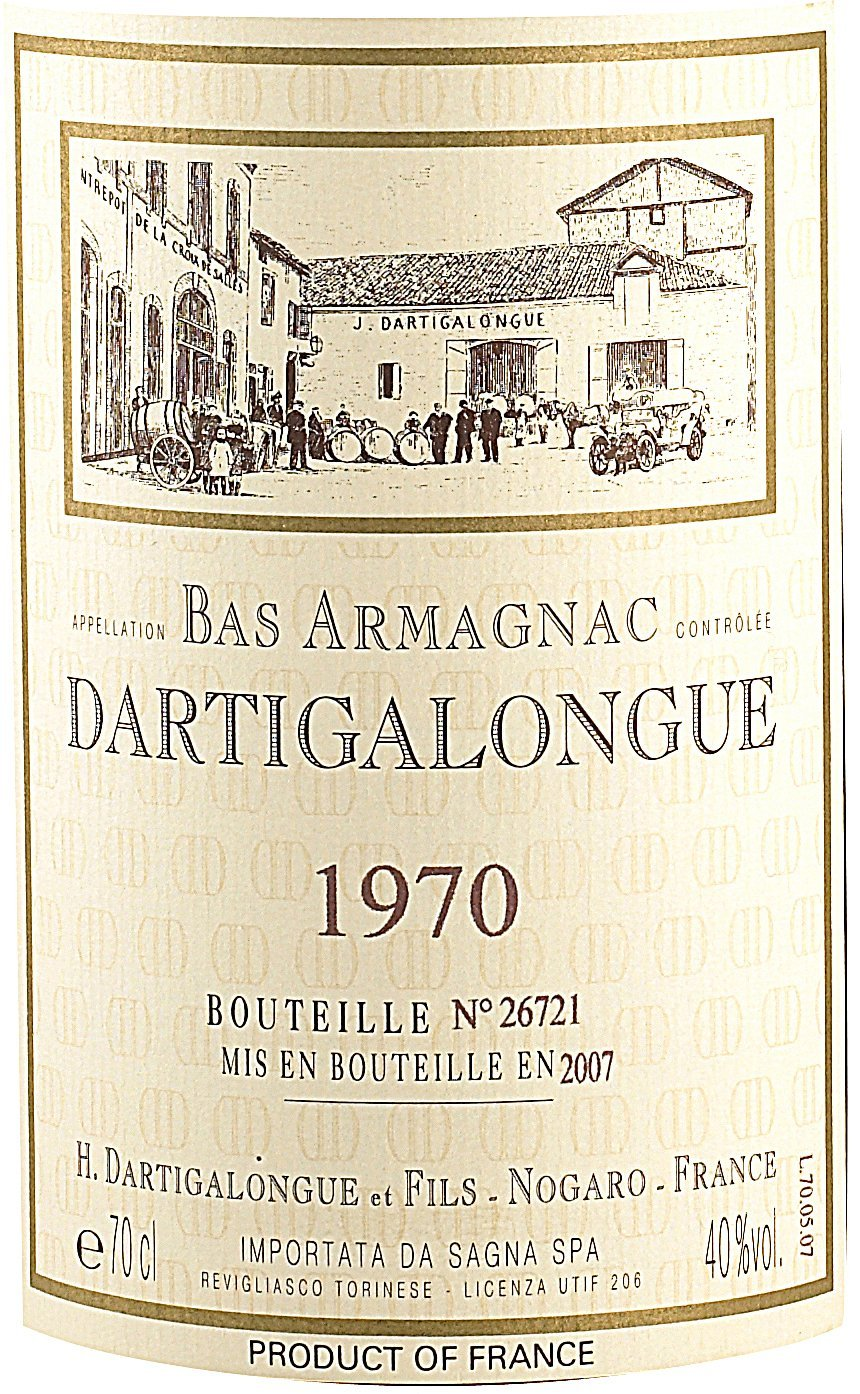 Etichetta bottiglia Dartigalongue
