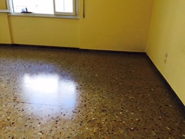 Pavimento in graniglia di marmo dopo il trattamento