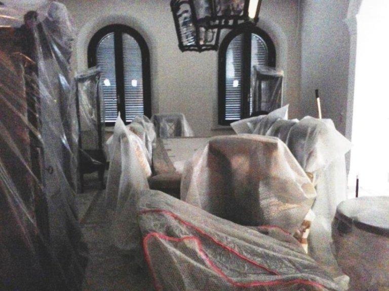 pulizia dopo imbiancatura appartamento