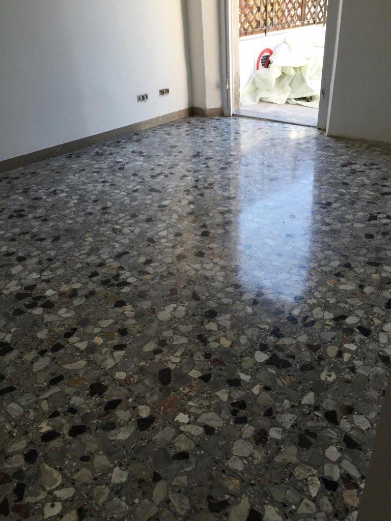 Pavimento dopo microlevigatura e cristallizzazione