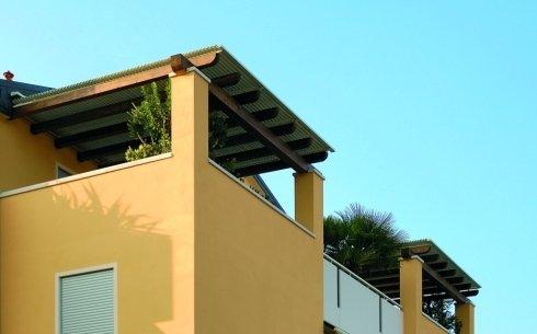 Realizzazione copertura in legno per terrazzo privato