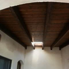 Copertura in legno lamellare con lucernario a chiusura elettrica