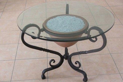 realizzazione tavolino in ferro battuto