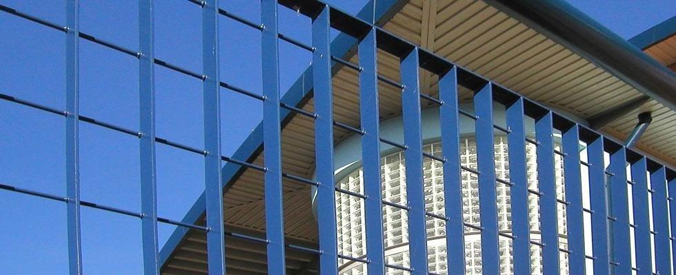 recinzioni in grigliato metallico verniciato