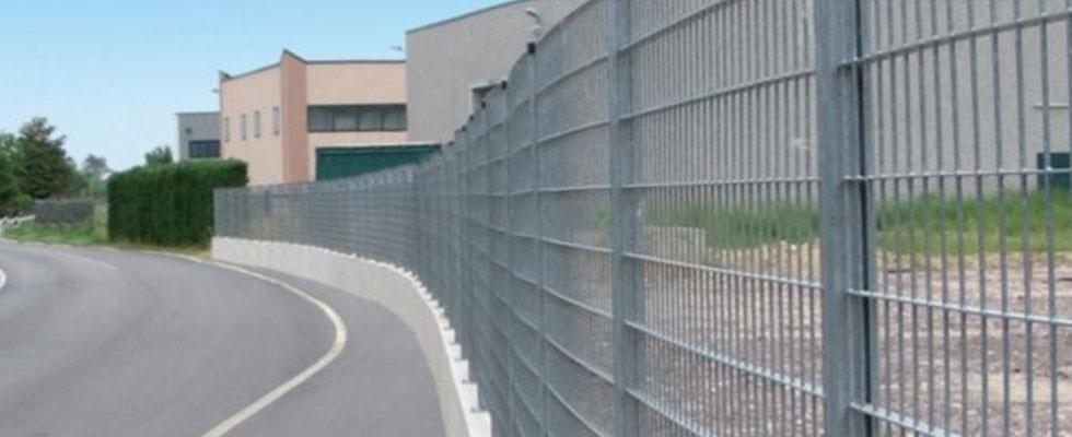 recinzioni in grigliato metallico zincato