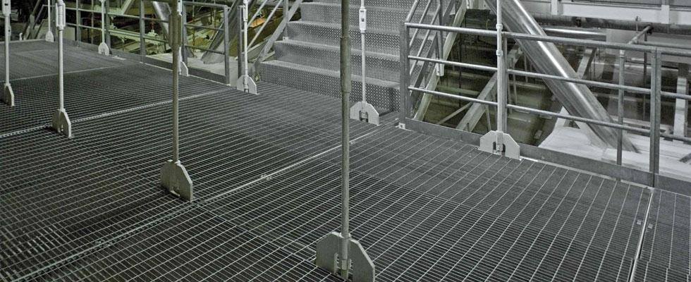 camminamenti industriale in grigliato metallico