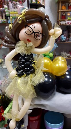 palloncino a forma di ragazza