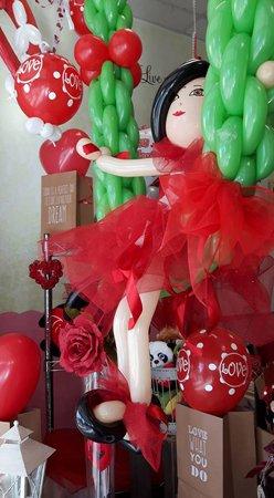 palloncino a forma di ballerina