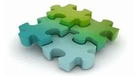 puzzle colorato, pezzi di puzzle