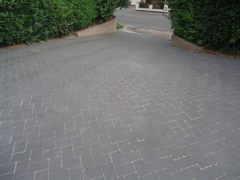 grey tiles driveway