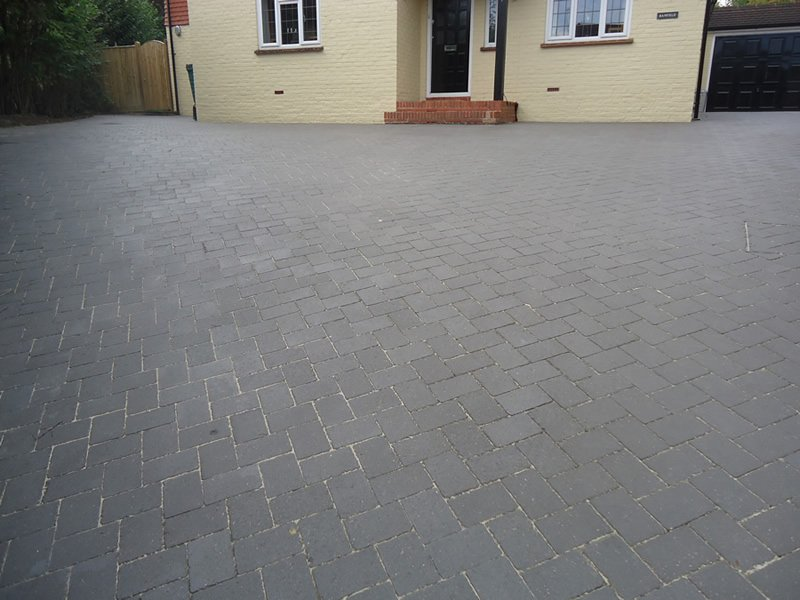 tiled outdoor space