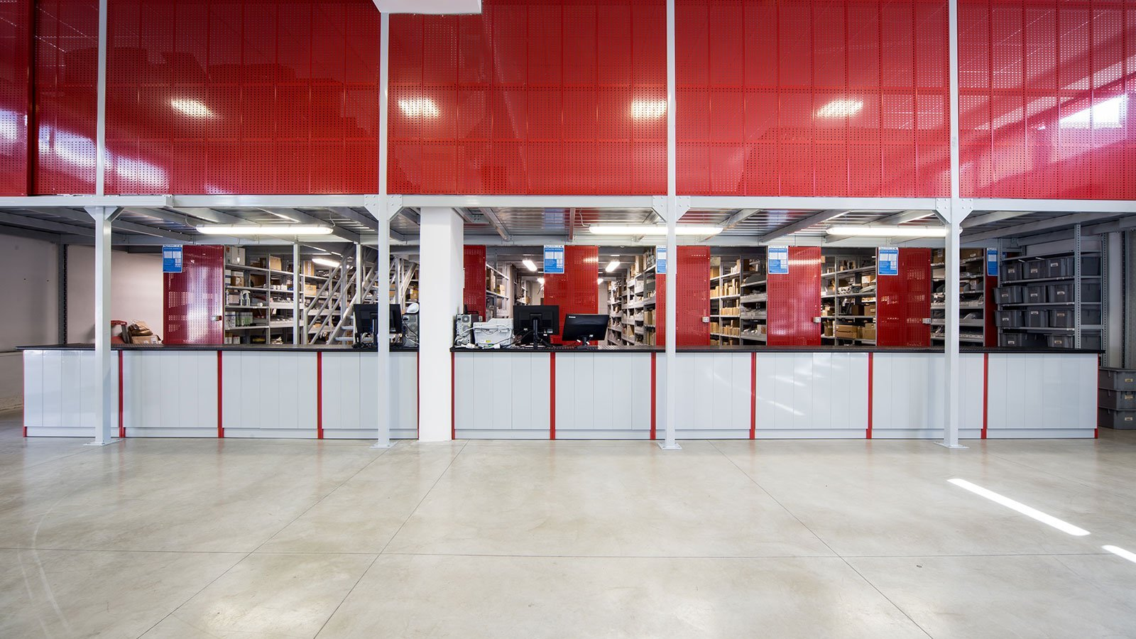 Vista generale del magazzino
