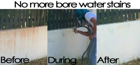 irvine industries bore water stains before and after