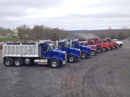 Trucks used by our aggregate suppliers in Cincinnati, OH