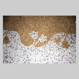 pavimento con mosaico naturale