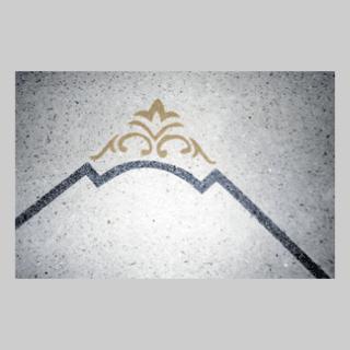 graniglia con disegni decorativi