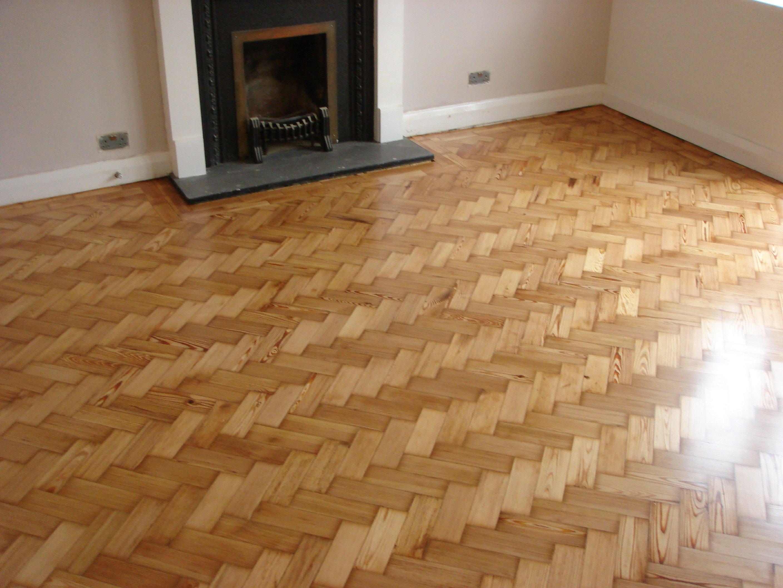 revarnished parquet floor