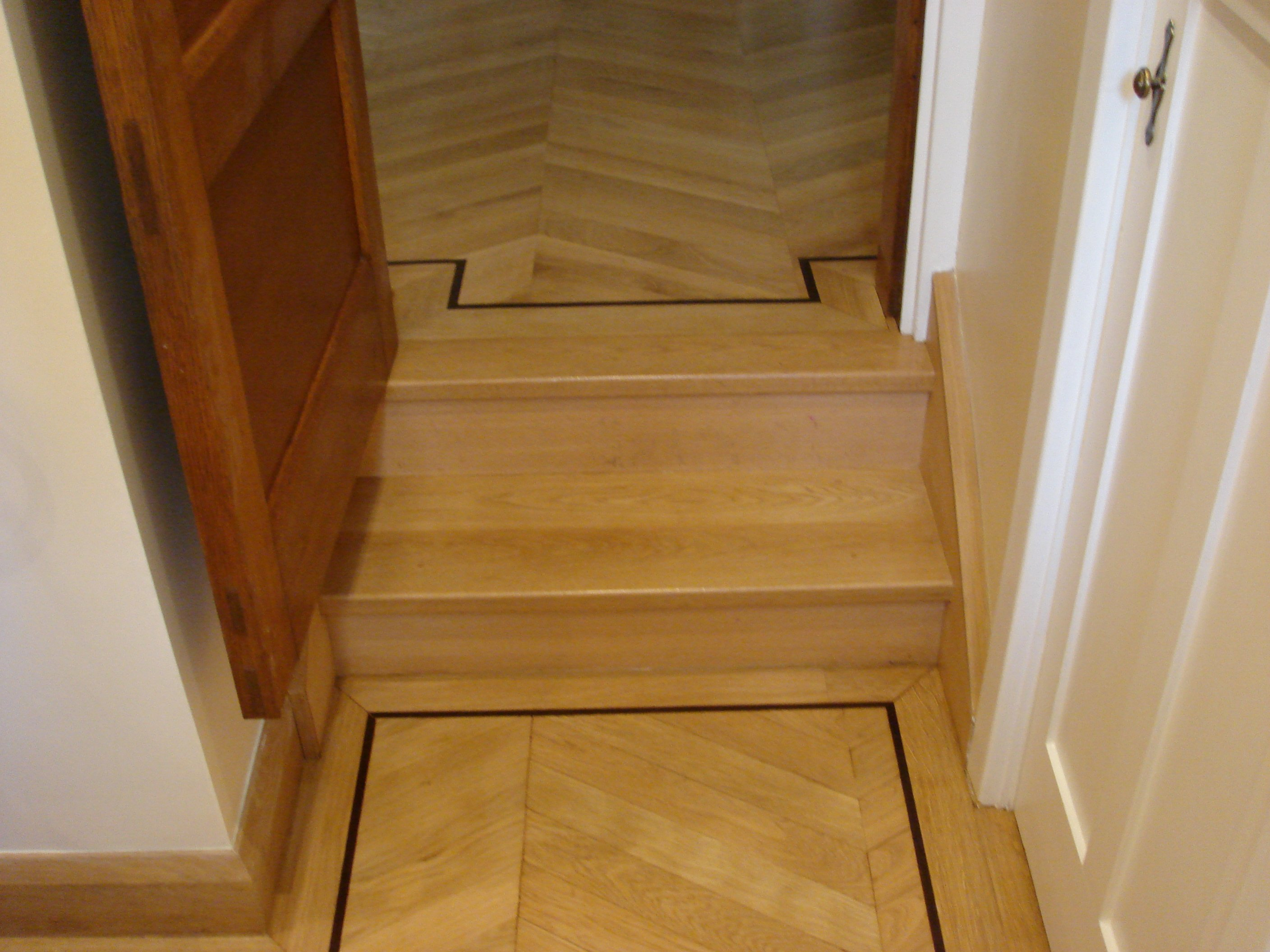 fitted and embellished parquet floor