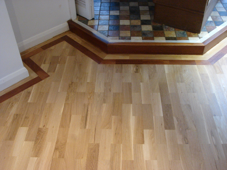 wood floor fitted round raised area