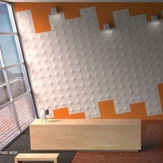 parete con rilievi 3d