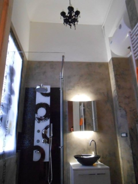 pareti decorate con resina