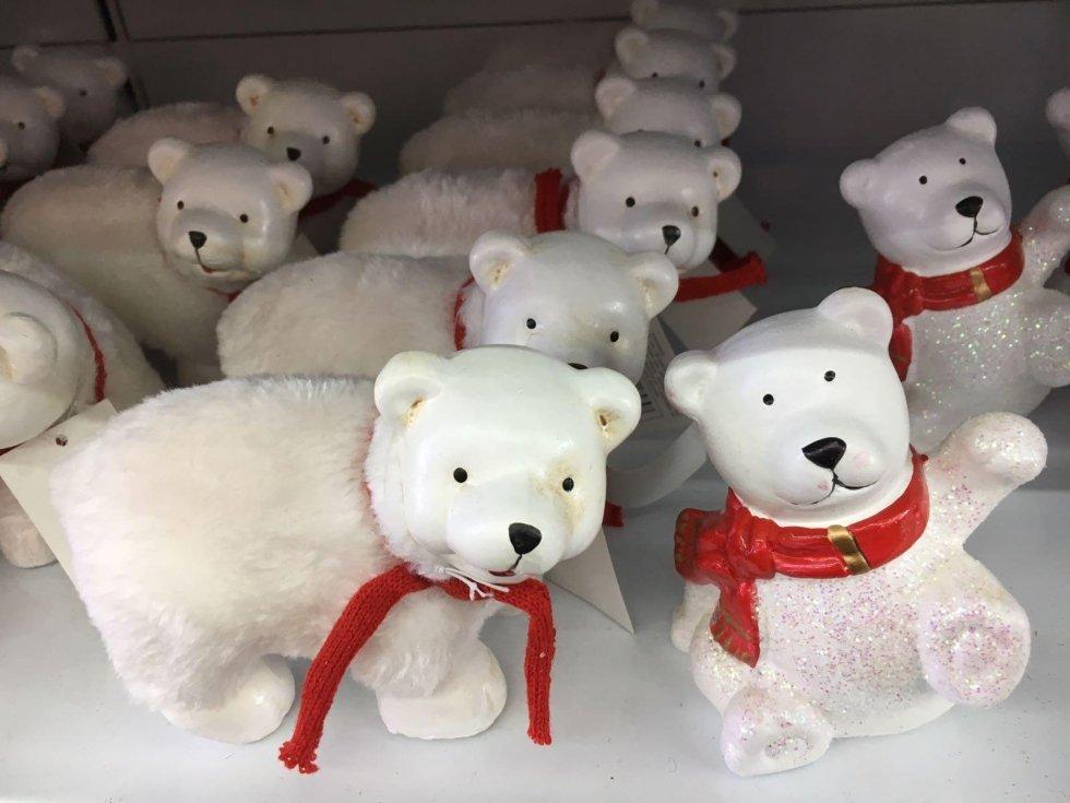 Peluche orsi con fiocco natalizio