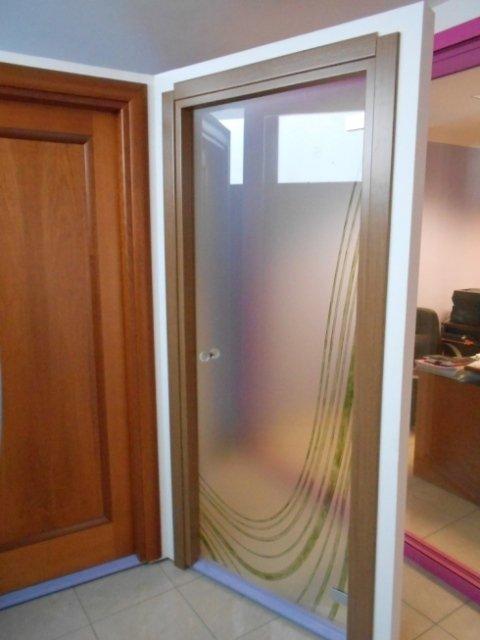 porte con vetro lavorato