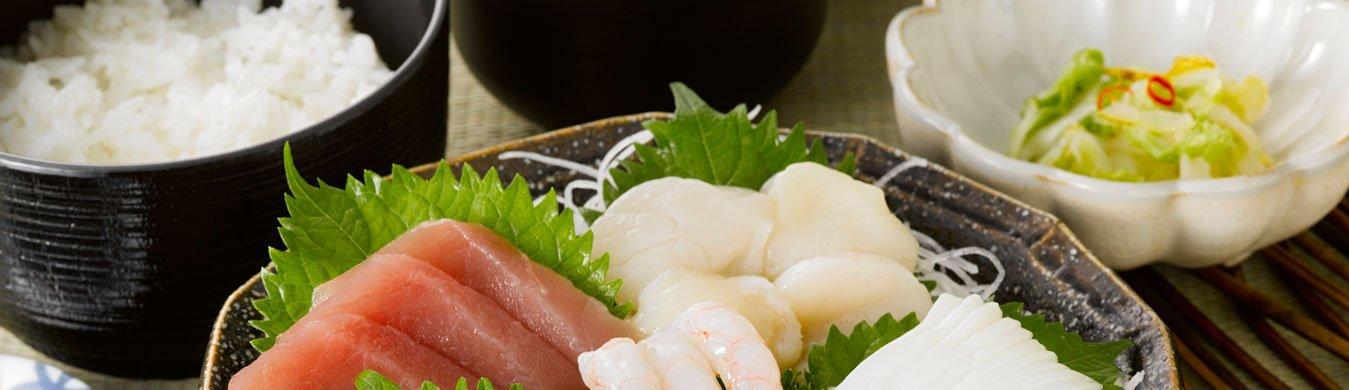 piatti di pesce fresco, specialità orientali