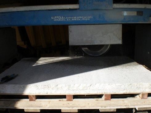 Taglio lastre di granito