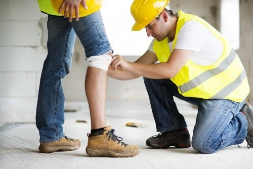 Construction worker has an accident
