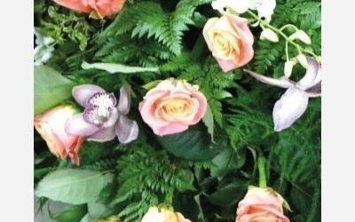 composizione rose orchidee ovada
