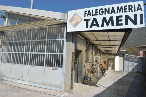 l'insegna falegnameria Tameni