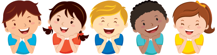 graphic of kids laughing