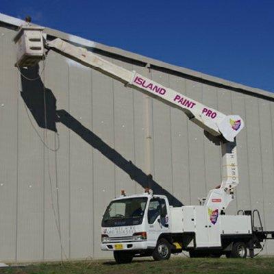 Island Paint Pro 15m truck nifty lift