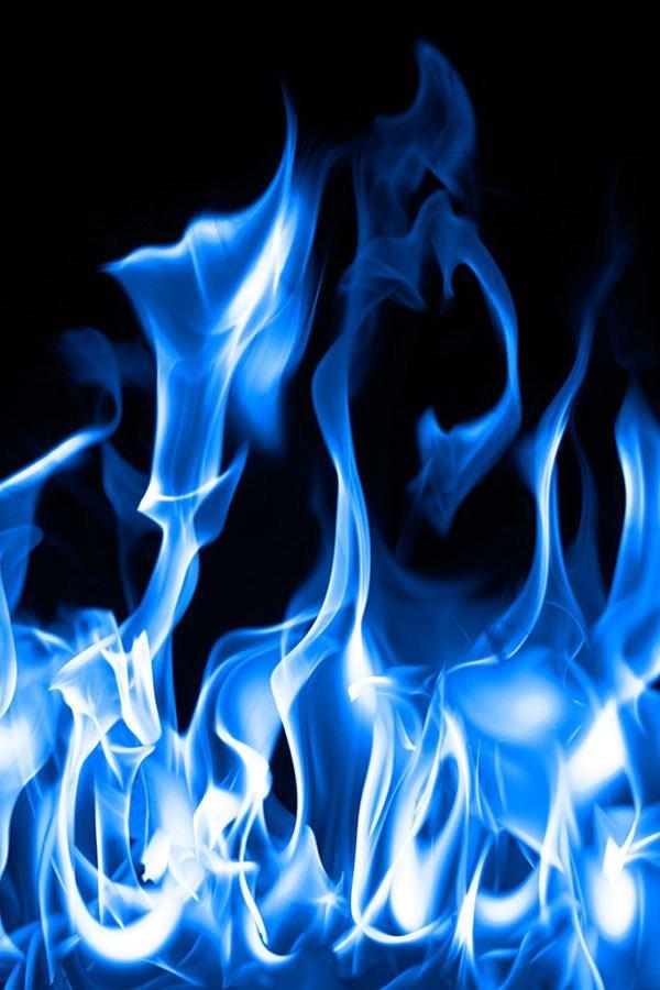 blue gas flame display