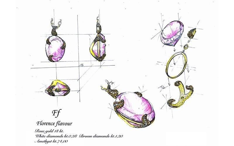 Florence flavour pendent D. Cardini