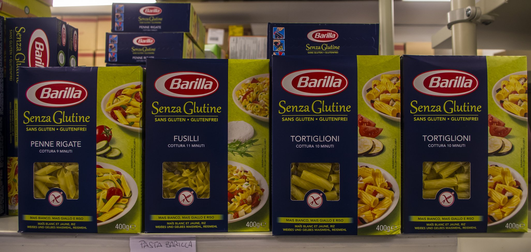 delle confezioni di pasta Barilla Senza Glutine