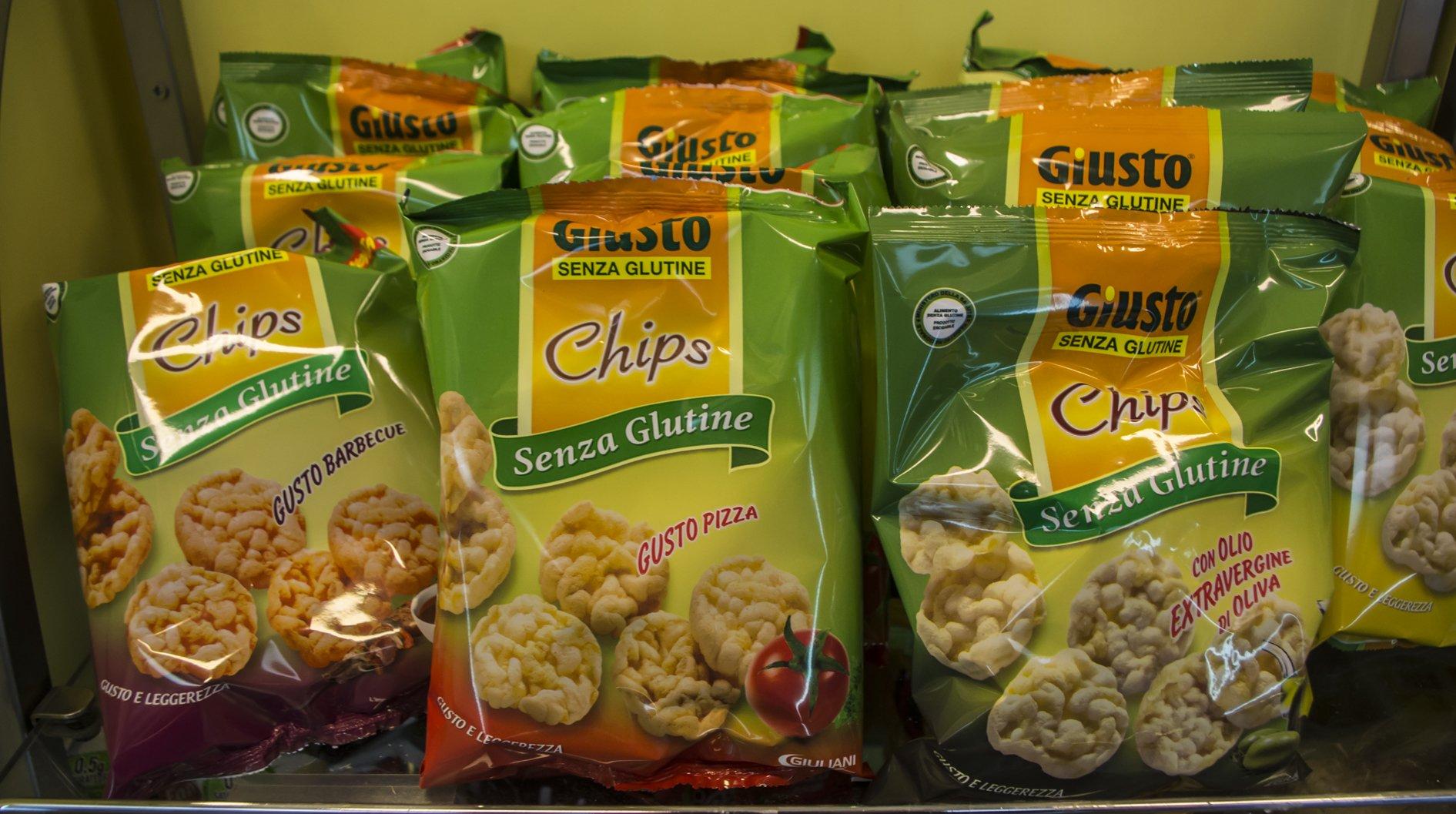 degli snack senza glutine in vari gusti