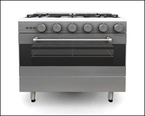A silver cooker
