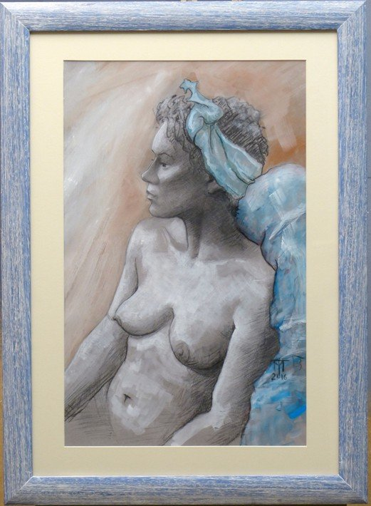 figure drawing, observational drawing, classical drawing, nude female art
