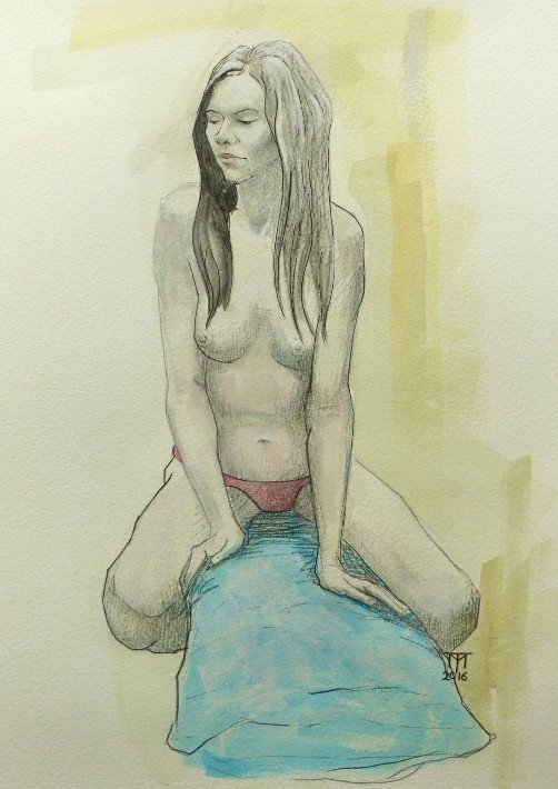 figure drawing, observational drawing, classical drawing, nude female art, nude female drawing