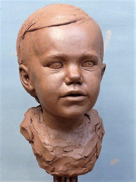 portrait sculptor, child portrait, child sculpture, portrait sculpture, bust sculpture, portrait bust, bronze portrait, bronze head, ceramic sculpture